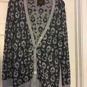 Frenchi (from Nordstrom) cheetah print cardigan